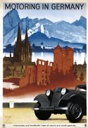 Motoring in Germany Vintage Travel Poster